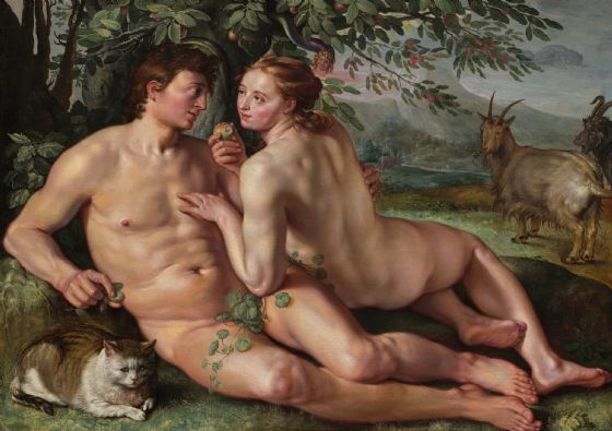 Goltzius, Hendrick: The Fall of Man. Fine Art Print/Poster. Sizes: A4/A3/A2/A1 (004099)